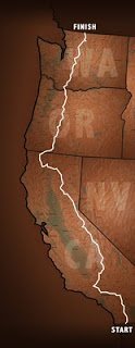Pacific Crest Trail route