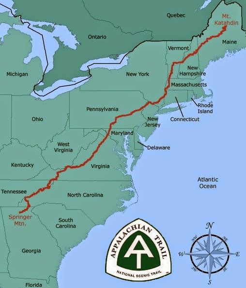 Appalachian Trail In Maine Map.14 Days Til Start Date Appalachian Trail Overview Walking With Wired