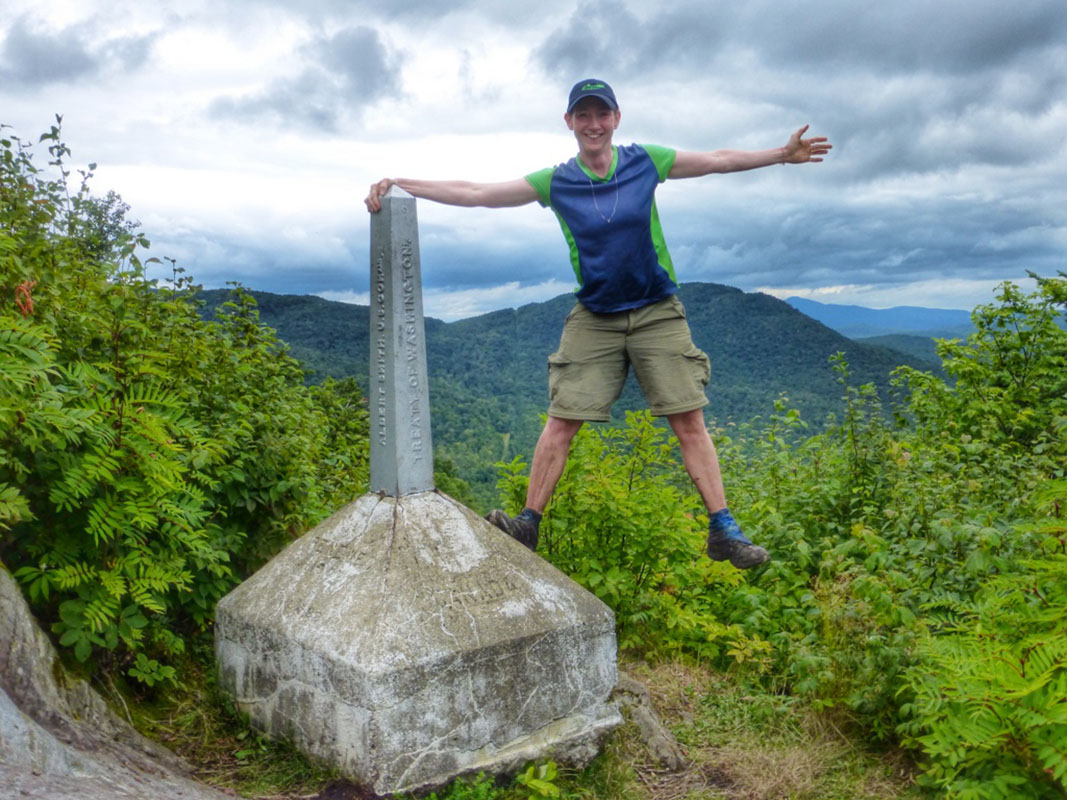 Canadian border terminus Vermont Trail