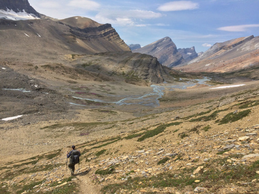 Descending Cataract Pass, Jasper National Park PC Elizabeth Morton