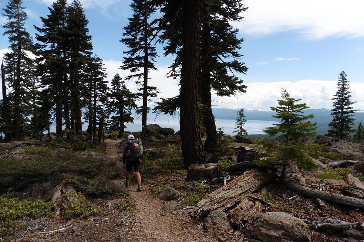 Hiking toward Tahoe City