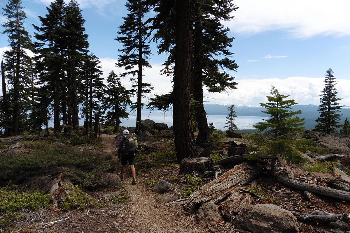 Hiking toward Tahoe City