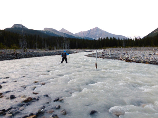 Icy Cold Morning Ford of the Smoky River, Jasper National Park