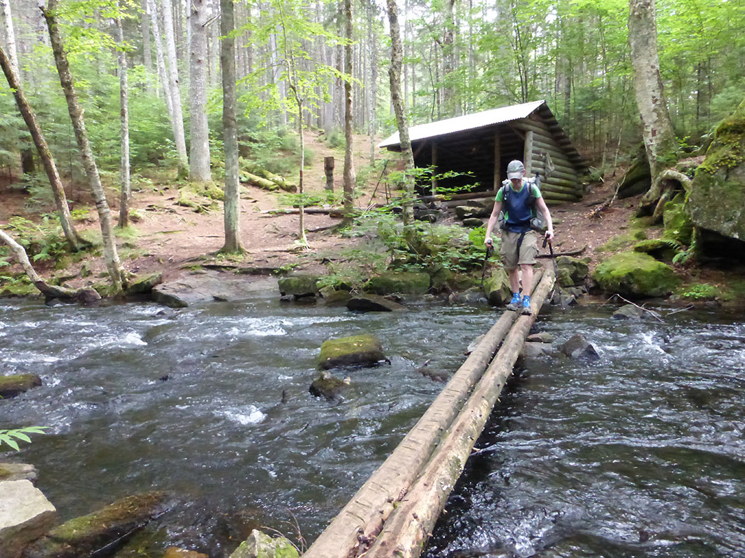 Maine shelter and crossing