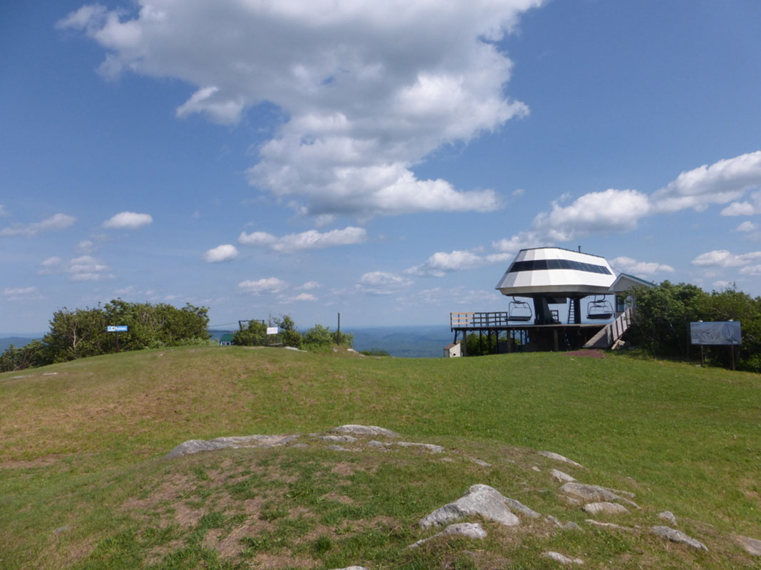 One of many ski lifts along the Vermont Trail