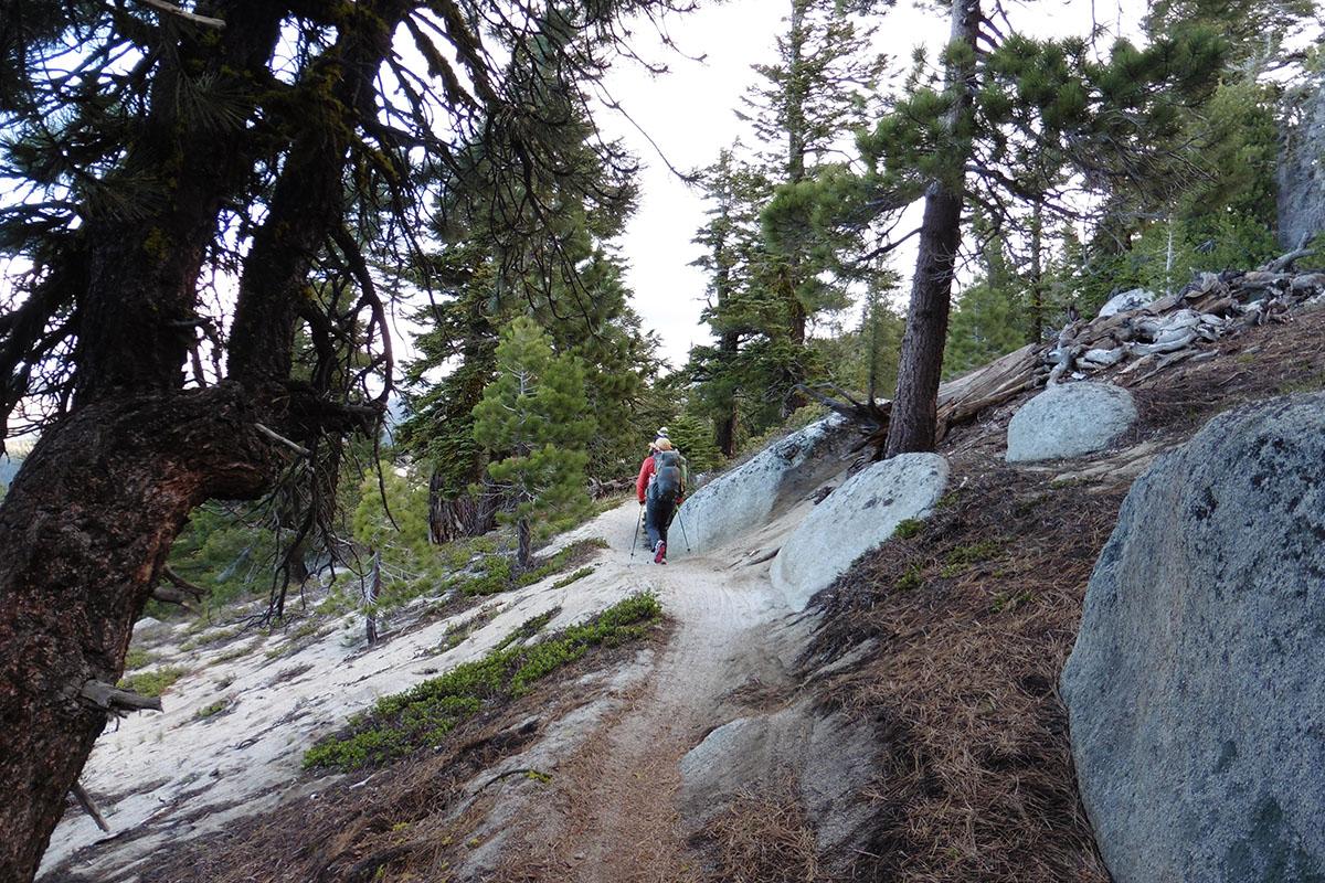 Ridge walking on the east side of Lake Tahoe