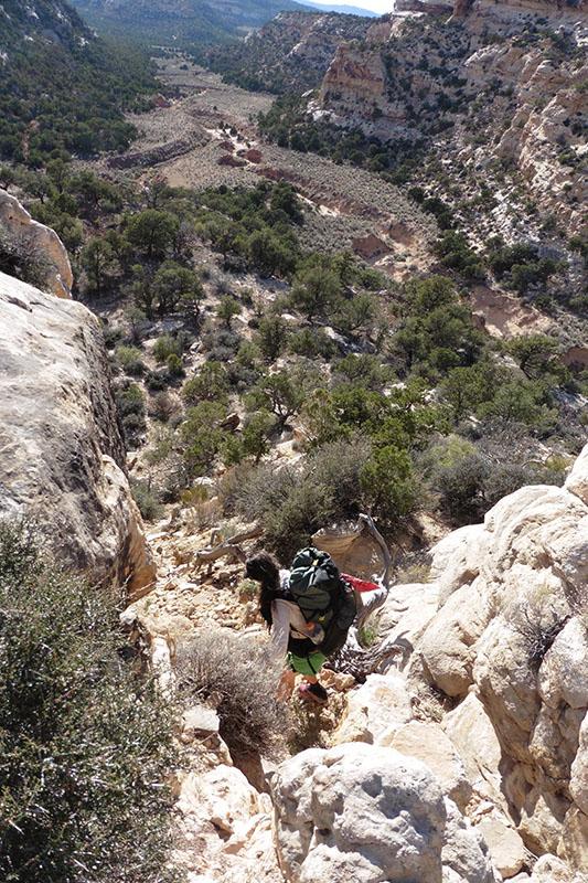 Sramble from Ruin Canyon to Beef Basin Wash
