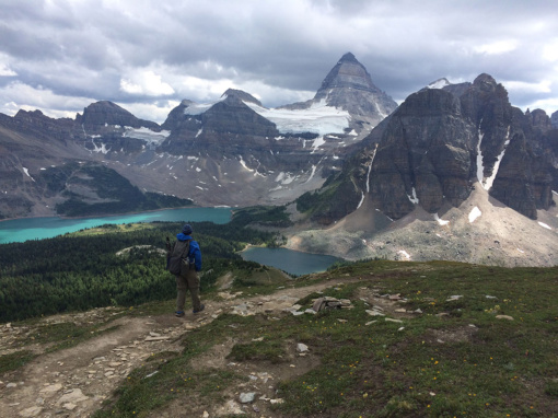 The Mt Assiniboine Provincial Park along the Niblet