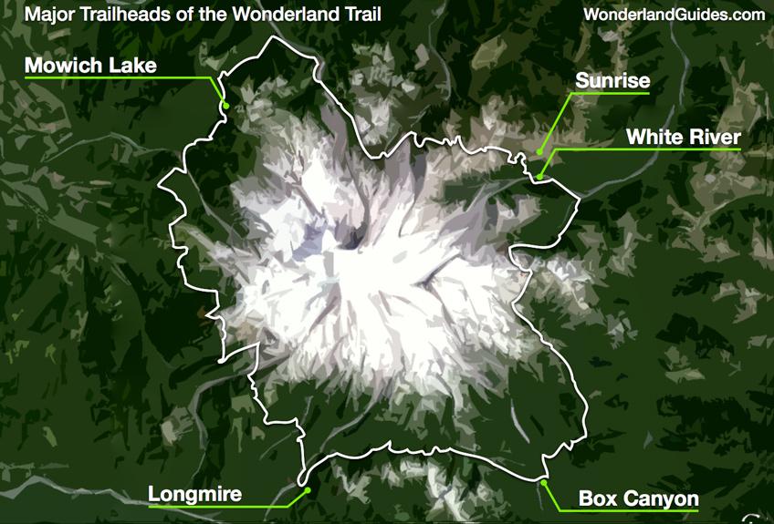 Wonderland Trail around Mt Rainier.